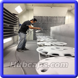 Our Fully equipped restoration department - Hubcaps.com